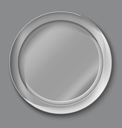 Empty silver plate vector