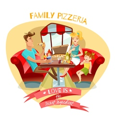 Family pizzeria vector