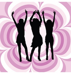 females dancing vector image vector image