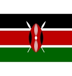 Flag of Kenya in correct proportions and colors vector image