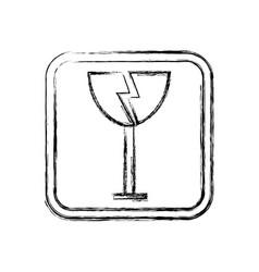 fragile icon packaging symbol concept premium vector image