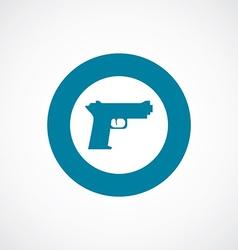 gun icon bold blue circle border vector image vector image