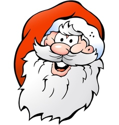 Hand-drawn of an Happy Smiling Santa vector image vector image