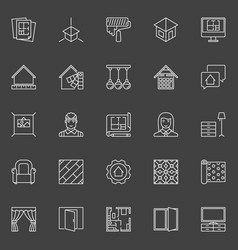 Home design icons vector