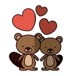 Isolated beaver cartoon design vector