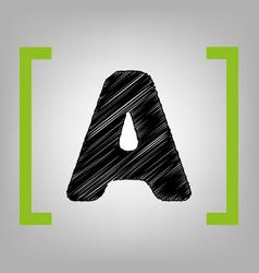 letter a sign design template element vector image