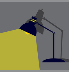 lighting lamp flat style vector image vector image