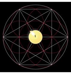 Magic ritual sacred geometry sign candle vector