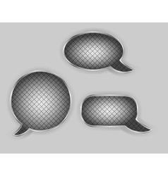 Metal speech bubbles vector image