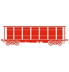 Open Railway freight car - vector image
