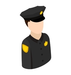 Police officer isometric 3d icon vector