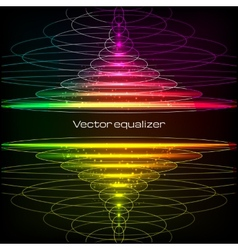 Rainbow colors vertical equalizer vector image