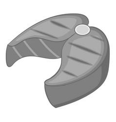 Salmon steak icon monochrome vector