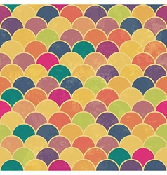 seamless colorful scale pattern vector image vector image