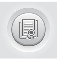 Security certificates icon flat design vector