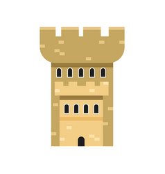 stone fortress tower medieval architecture vector image