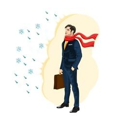 Strong immunity business man vector
