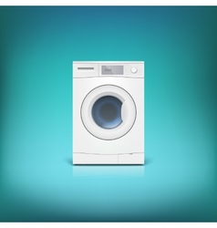 Washing machine isolated vector