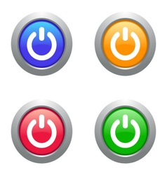 Web power buttons vector