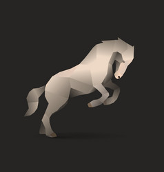 white horse vector image