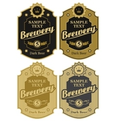 Set of labels for beer and brawary vector