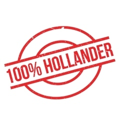 100 percent hollander rubber stamp vector