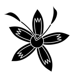 Flower daylily beautiful flora pictogram vector