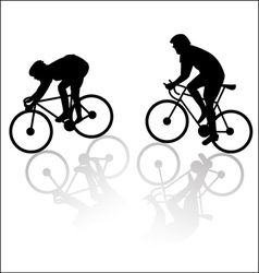 Downhill and uphill cyclist vector