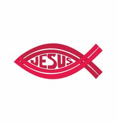 jesus fish vector image
