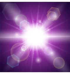 Purple light background vector