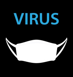 Virus with hygiene mask vector