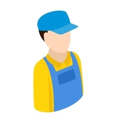 Plumber repairman isometric 3d icon vector