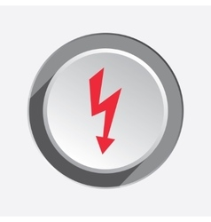 Lightning icon power energy symbol red sign on vector