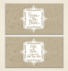 vintage save the date invitation 1403 vector image