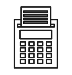 Cash register isolated icon design vector