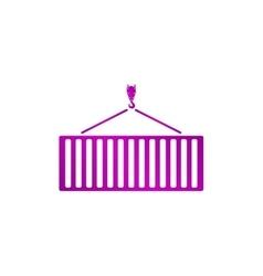 Crane moving container icon vector