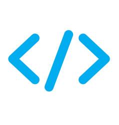 Blue code icon vector