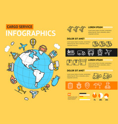 cargo transportation delivery service business vector image