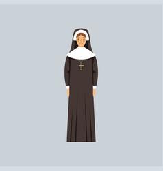 Catholic nun representative of religious vector