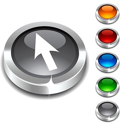 Cursor 3d button vector image vector image