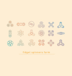 design linear multicolored icons of fidget vector image vector image