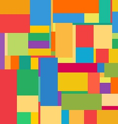 Flat colorful pattern with chaotic rectangles vector image