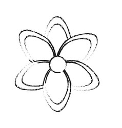 flower icon image black line vector image vector image