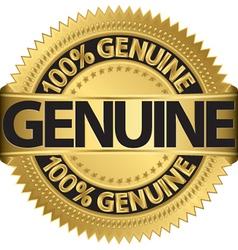 Genuine gold label vector