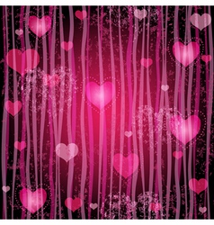 Grungy pink valentine pattern vector image vector image