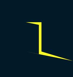 light from the open door yellow light vector image vector image