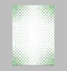 Page template from green diagonal rounded square vector
