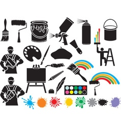 Painting Accessories Icon vector image vector image