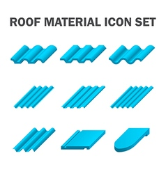 Roof tile icon blue vector image