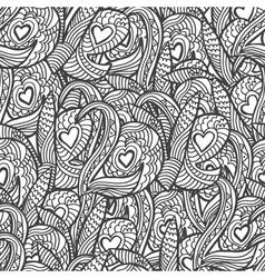 Seamless pattern with hand drawn quote love Sketch vector image vector image